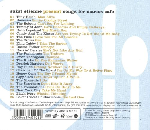 Songs for Mario's Cafe