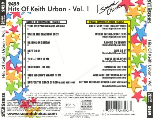 Hits of Keith Urban, Vol. 1