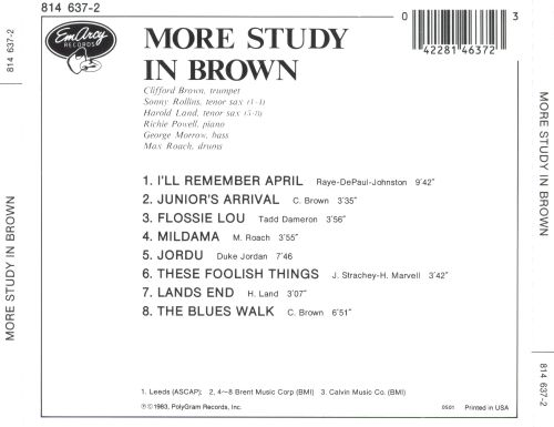 Clifford Brown And Max Roach - Study In Brown mp3 album