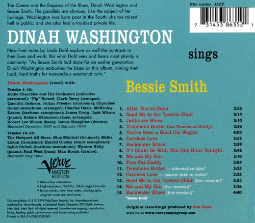 Dinah Washington Sings Bessie Smith
