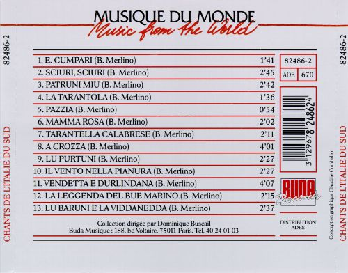 Songs from Southern Italy