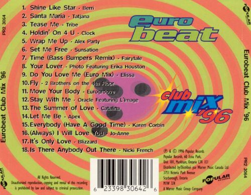Euro Beat Club Mix 1996