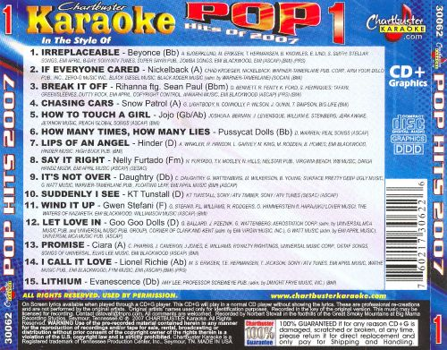 Karaoke: Pop Hits 2007, Vol. 1