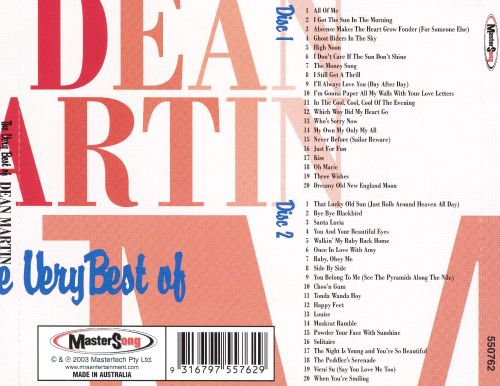 The Very Best of Dean Martin [MasterSong 2003]