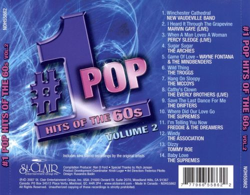 Number 1 Pop Hits of the 60s, Vol. 2