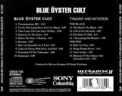 Blue Oyster Cult/Tyranny & Mutation