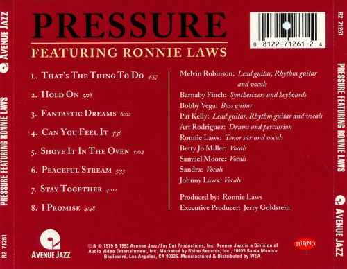 Pressure Featuring Ronnie Laws