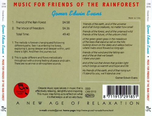 Music for Friends of the Rainforest