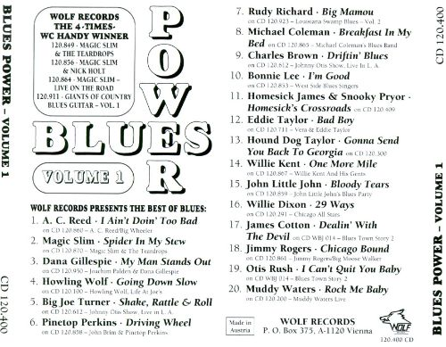Blues Power, Vol. 1: Wolf Records Presents the Best..