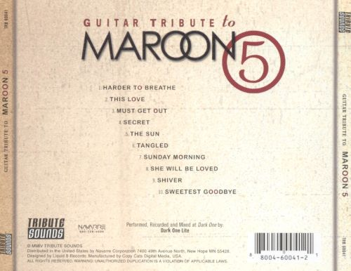 Guitar Tribute To Maroon 5