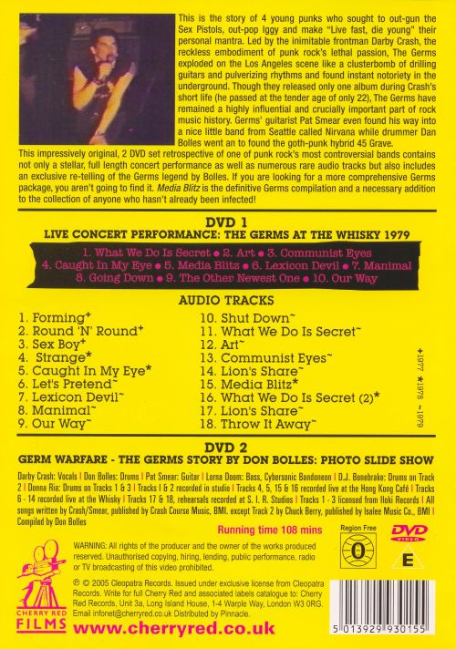 Media Blitz: The Germs Story [DVD]