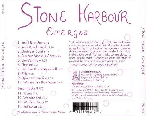 Stone Harbour Emerges