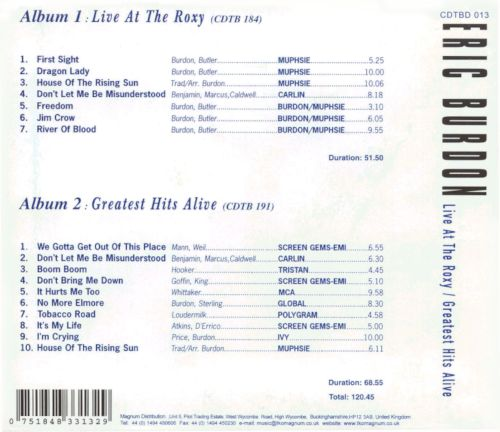Live at the Roxy/Greatest Hits Alive