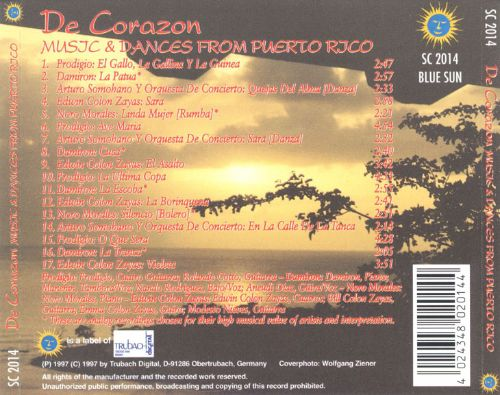 De Corazon: Music and Dances from Puerto Rico