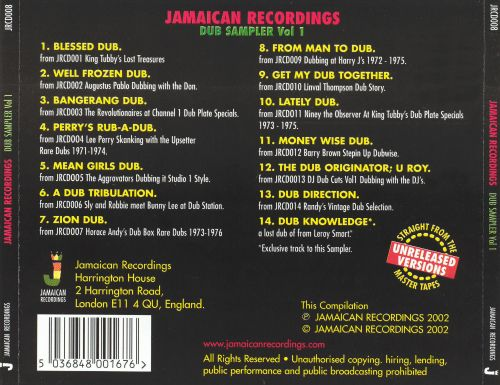 Jamaican Recordings: Dub Sampler, Vol. 1
