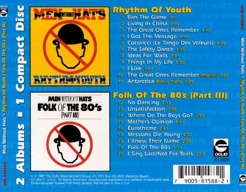 Rhythm of Youth/With Folk of the 80's