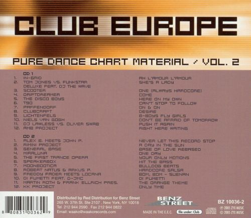 Club Europe: Pure Dance Chart Material, Vol. 2