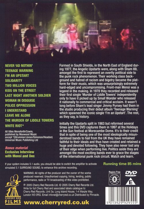 Angelic Upstarts Live: Solidarity [DVD]