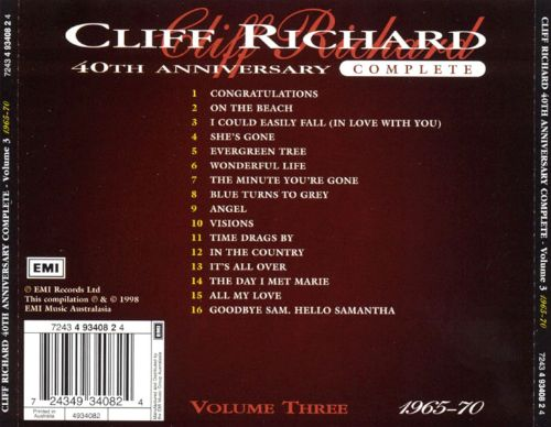 Cliff Richard 40th Anniversary, Vol. 3: 1965-70