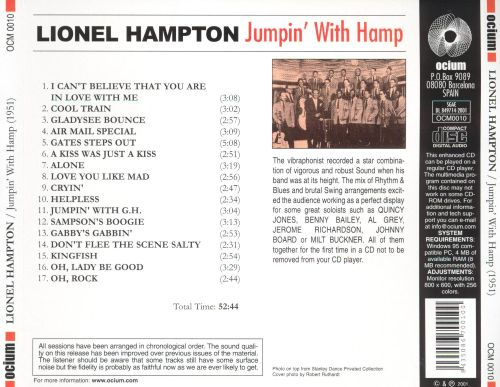 Jumpin' With Hamp: The Legendary 1951 Big Band Ses