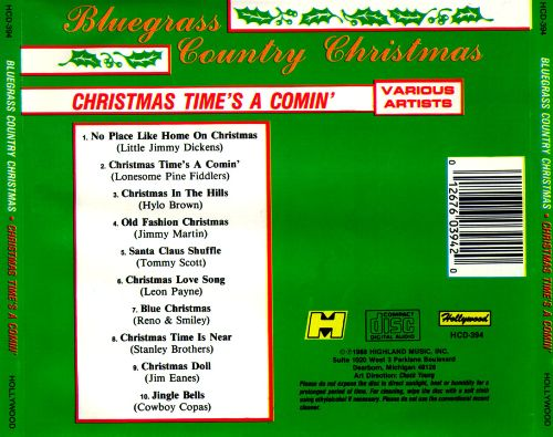 bluegrass country christmas christmas times a comin