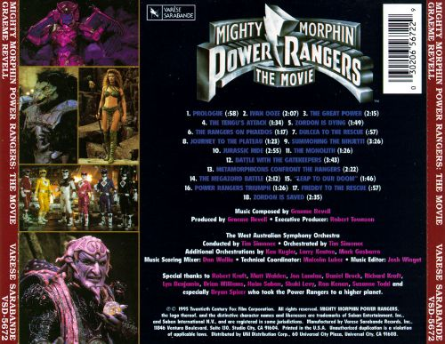 Mighty Morphin Power Rangers: The Movie [Original Motion Picture Score]