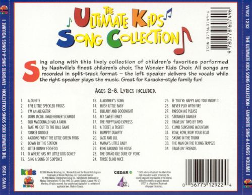The Ultimate Kids Song Collection: Favorite Sing-A-Longs, Vol. 1