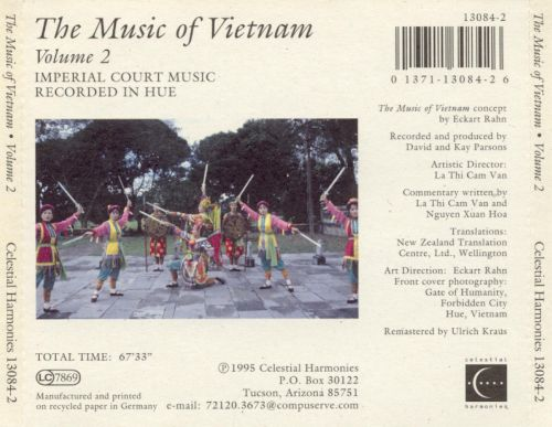The Music of Vietnam, Vol. 2: Imperial Court Music