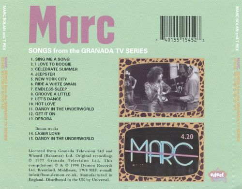 Marc: Songs From The Granada TV Series