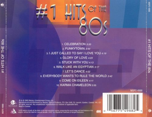 #1 Hits of the 80s [Disc 1]