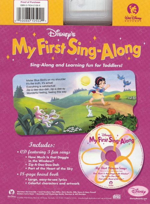 My First Sing-Along: My First Princess Songs