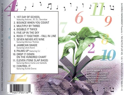 The Facts of Life, Vol. 1 & 2: Multiplication CD Tables 1-12