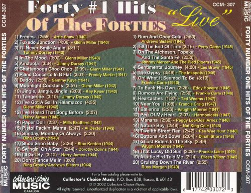 Forty Number One Hits of the Forties