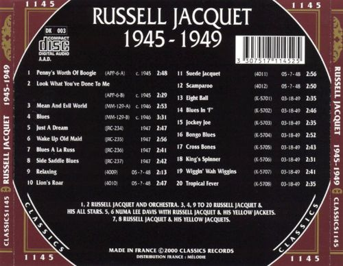 Russell Jacquet: 1945-1949