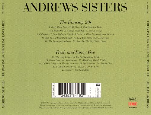 Sing the Dancing 20's/Fresh and Fancy Free