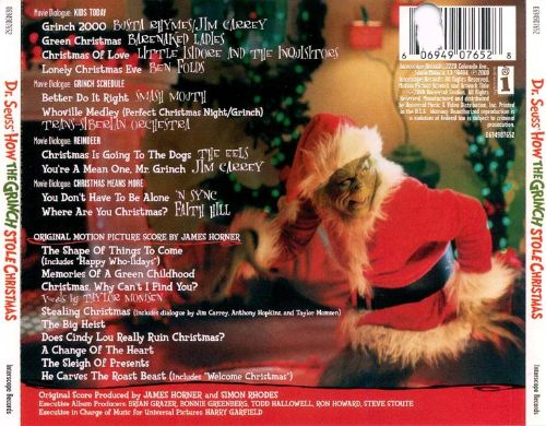 The Grinch [Original Soundtrack] - James Horner | Songs, Reviews ...
