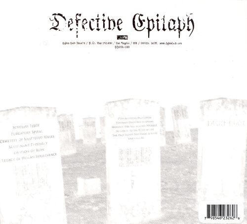 Defective Epitaph