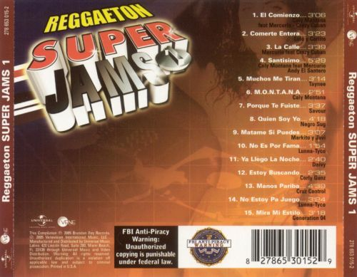 Reggaeton Super Jams, Vol. 1