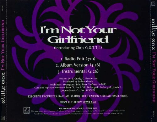 I'm Not Your Girlfriend [CD Single]