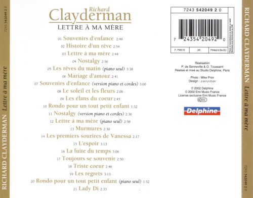 ma lettre Lettre a Ma Mere   Richard Clayderman | Songs, Reviews, Credits  ma lettre