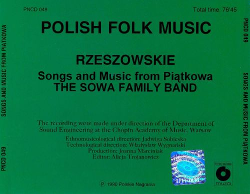 Polish Folk Music: Songs and Music from Piatkowa