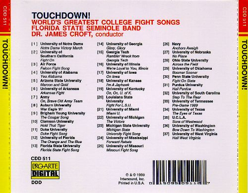 Touchdown! Greatest College Fight Songs