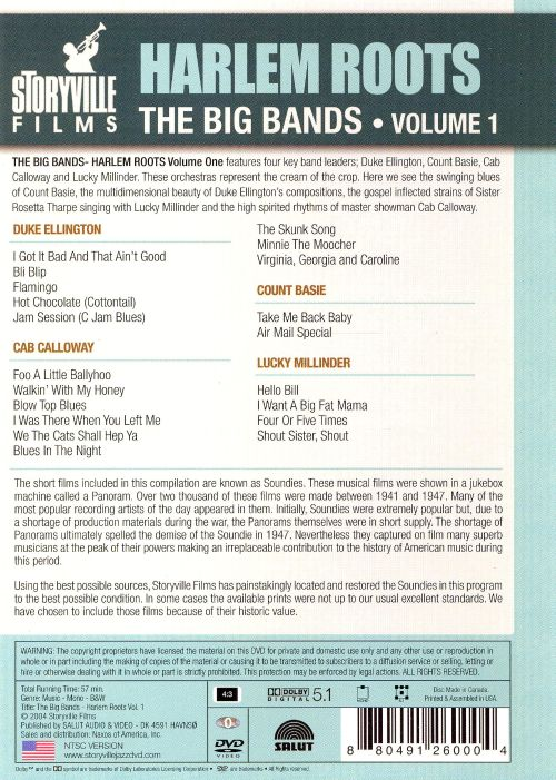 Harlem Roots, Vol. 1: The Big Band [DVD]