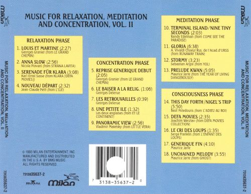 Music for Relaxation, Meditation, & Concentration, Vol. 2