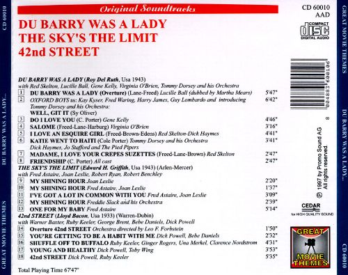 Du Barry Was a Lady/The Sky's the Limit/42nd Street