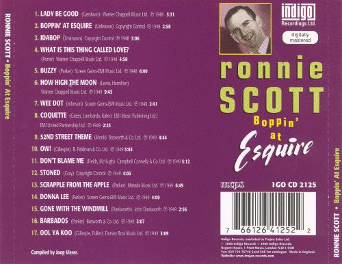 Boppin' at Esquire