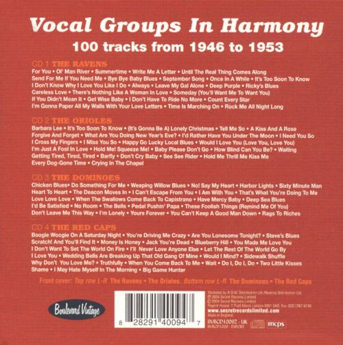 Vocal Groups in Harmony
