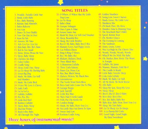 102 Lullaby Songs