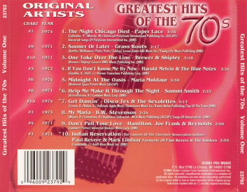 Greatest Hits of the 70's, Vol. 1 [Platinum 2001]