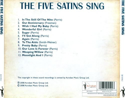 The Five Satins Sing